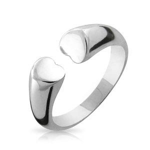 BFF Tender Friendship Open Heart Ring Band 925